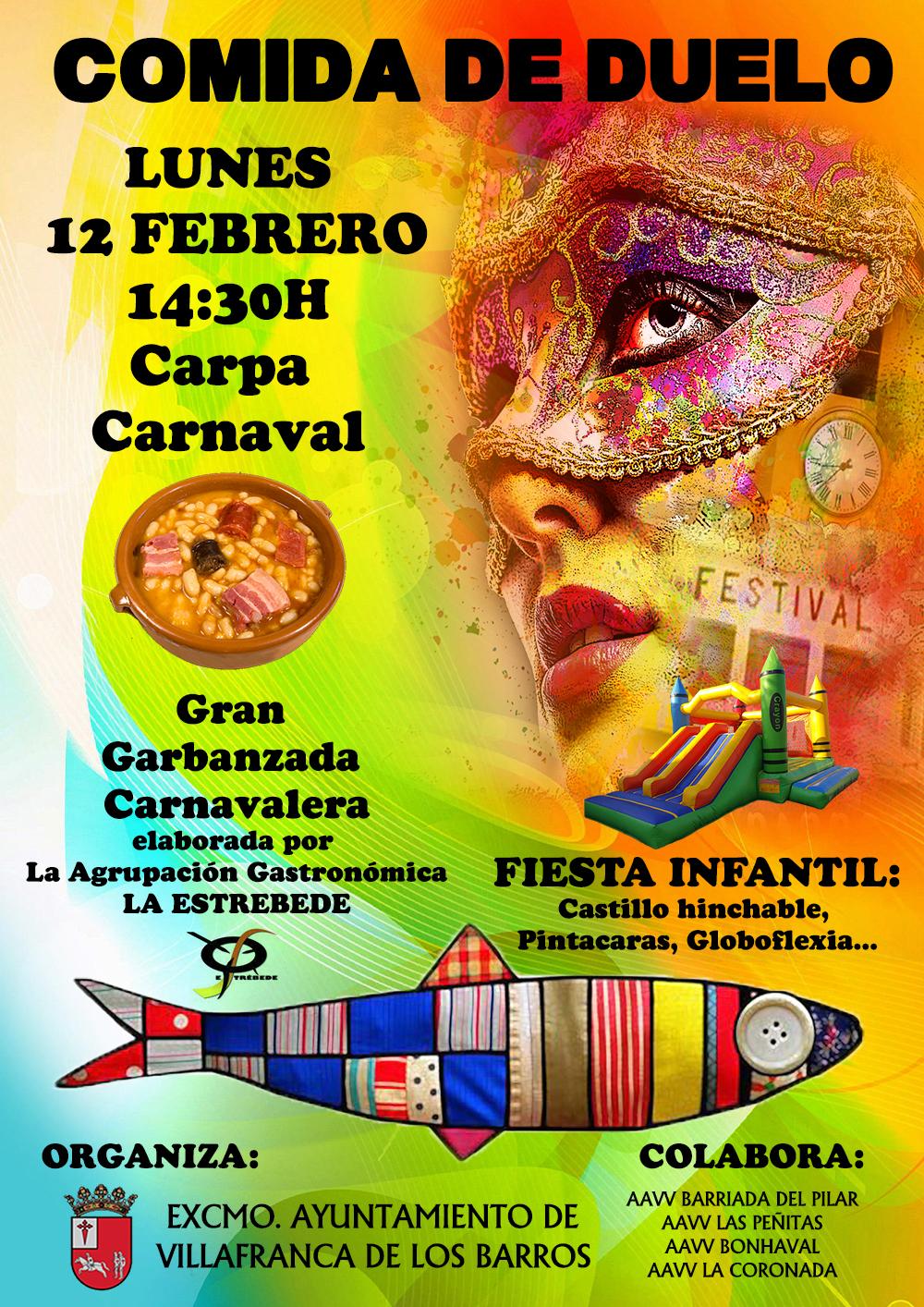 La carpa del carnaval de villafranca acoger el lunes 14 for Carpa comida