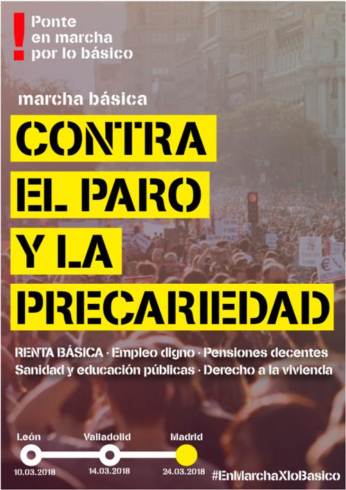 Resultado de imagen de 24 de marzo: La Marcha Básica contra el paro y la precariedad llega a Madrid. ¡Participa!